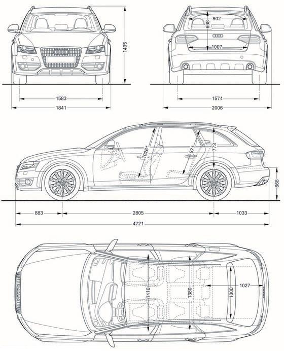Audi A4 Allroad Quattro Dane Techniczne Wymiary Wyposażenie