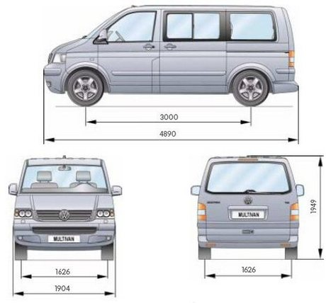 Nowy Vw T5 Multivan Dane Techniczne Wymiary
