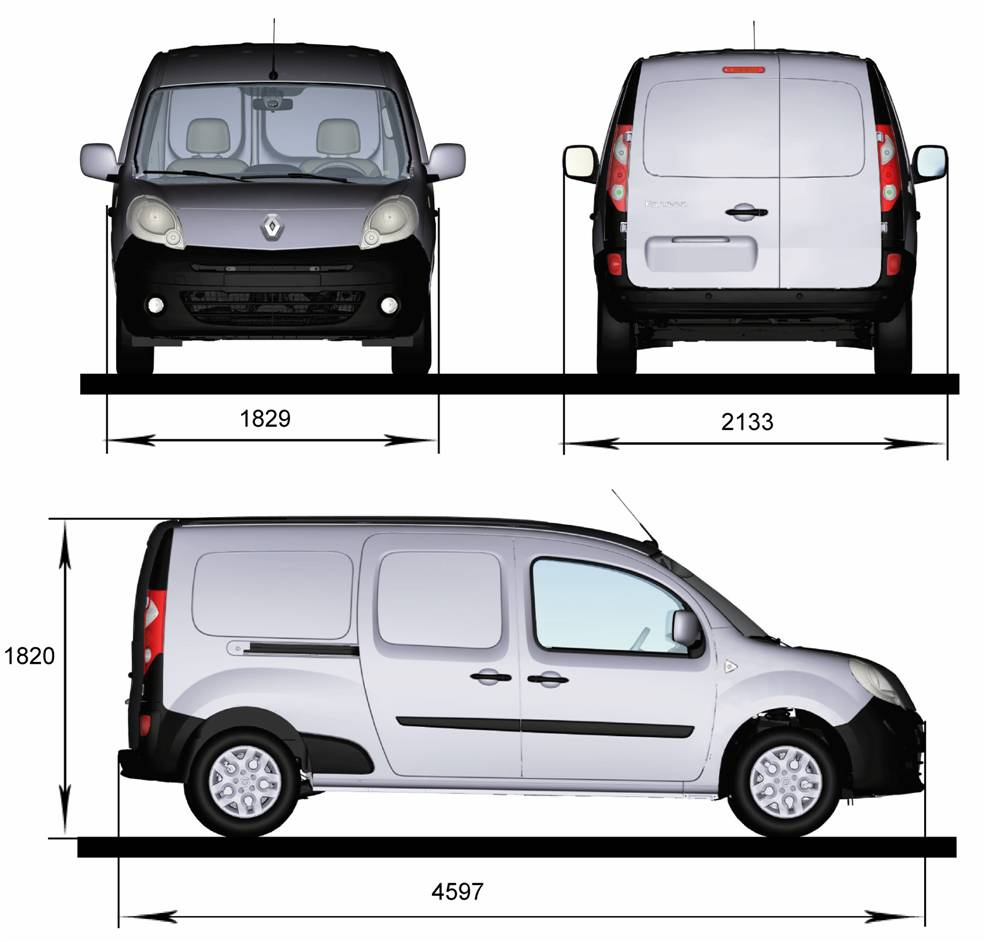 nowe renault kangoo express maxi dane techniczne wymiary. Black Bedroom Furniture Sets. Home Design Ideas