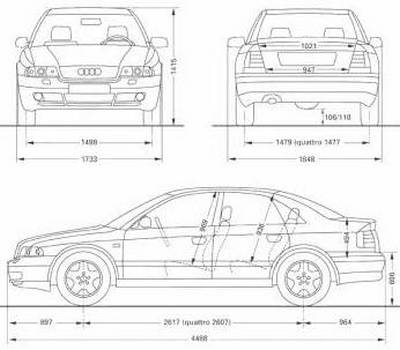 Audi A4 Audi A4 Avant Dane Techniczne Opinie Wymiary