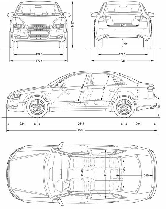 Audi A4 Audi S4 Avant B7 Dane Techniczne Opinie Testy Wymiary